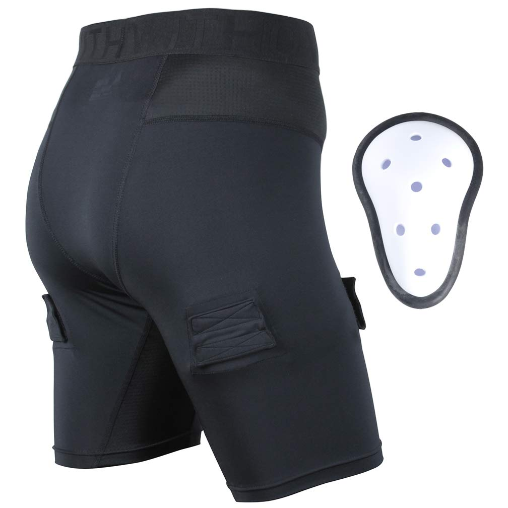 EALER Compression Hockey Shorts Athletic Supporter Protective Cup Youth & Adult