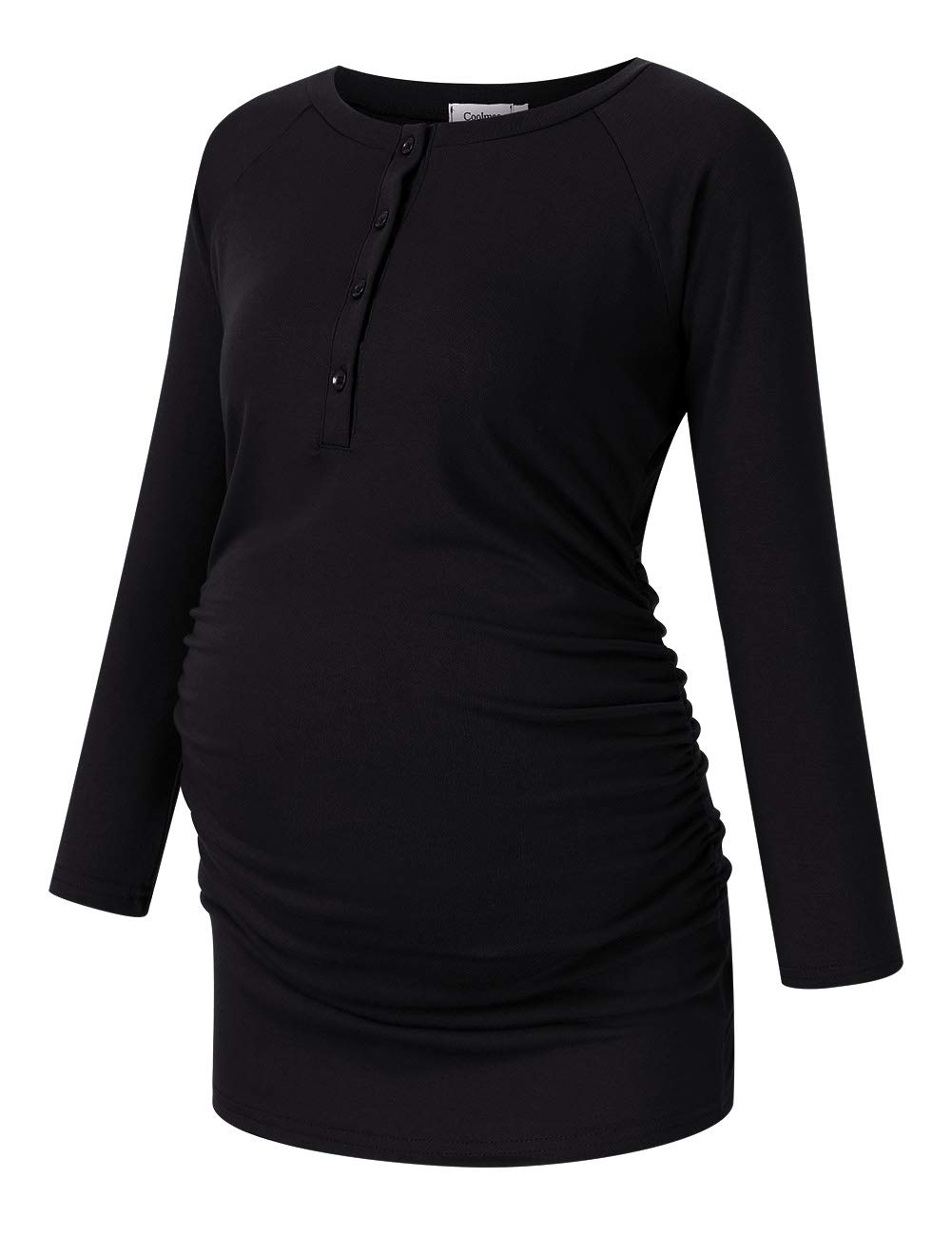 Coolmee Maternity Nursing Top Side Ruched Casual Blouse Breastfeeding Shirts for Womens