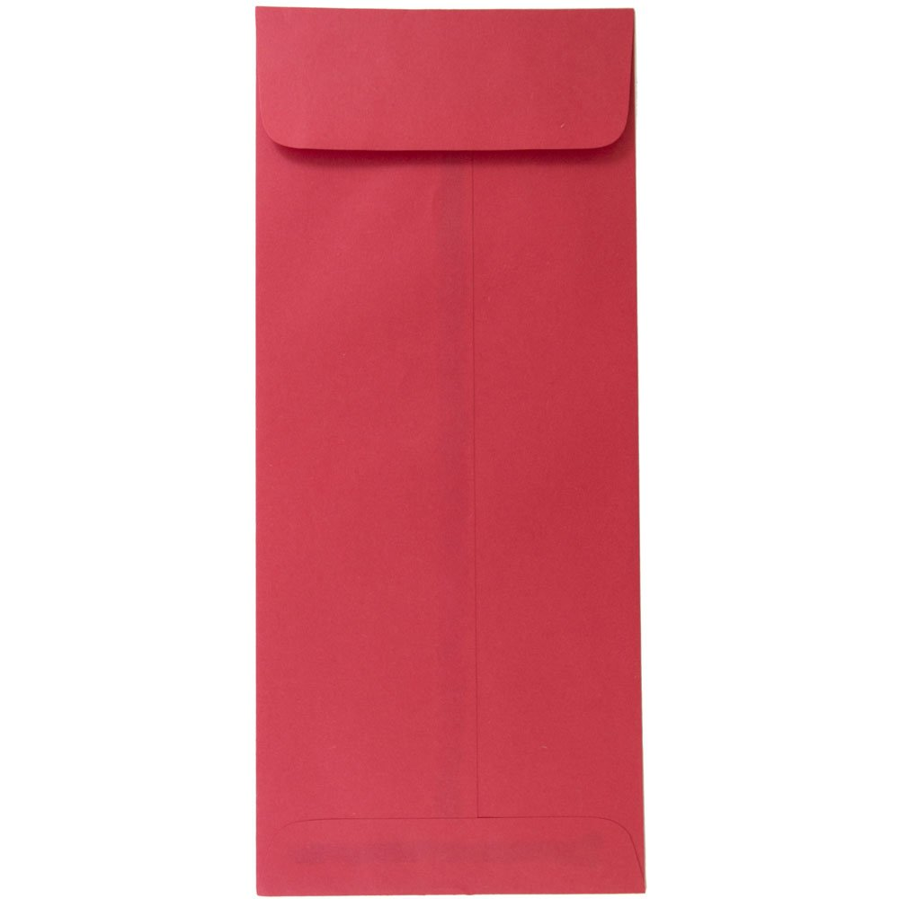 JAM PAPER #14 Policy Business Colored Envelopes - 5 x 11 1/2 - Red Recycled - 50/Pack