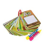 Little bado Children Early Education Drawing Cards for kids Water Painting Magic Doodle Card 26 Letters A-Z Alphabet with 2 Magic Pen Included, Beast Learning Toy for Toddlers Gift