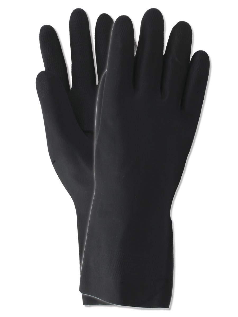 Magid Glove & Safety 712-M Magid MultiMaster 712 30 Mil Flock-Lined Neoprene Gloves, 7, Black, Medium (Pack of 12)