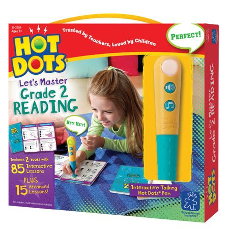 Educational Insights Hot Dots Let's Master 2nd Grade Reading Set, Homeschool, 2 Books & Interactive Pen, 100 Math Lessons, Ages 7+