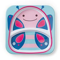 Skip Hop Baby Plate: Dishwasher Safe Zoo Plate, Butterfly