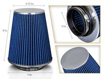 "BLUE 4"" 102mm Inlet Truck Air Intake Cone Replacement Quality Dry Air Filter"