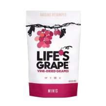 Life's Grape Mini Vine Dried Grapes | Raisins Revamped | No Sugar Added | California Grown | Vegan, Non-GMO, Gluten Free, Kosher, 120 Calories | 13 oz (1) Resealable Pouch