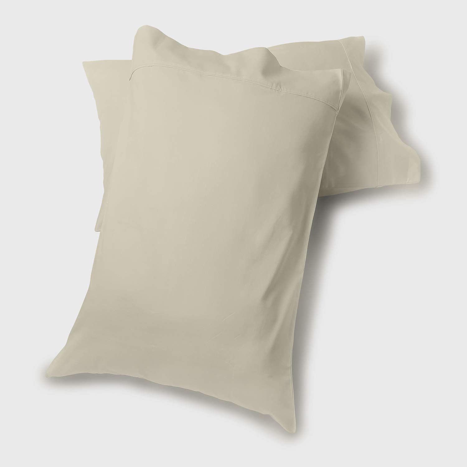 """Fisher West New York The Village 500 Thread Count - Ivory Standard Pillow Case Set 21"""" X 30"""" - Soft, Cozy, Durable - Crafted from Natural, Breathable Cotton Fabric - Made for Sound Sleep"""