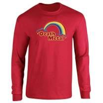 Death Metal Retro Rainbow 70s 80s Sarcastic Full Long Sleeve Tee T-Shirt