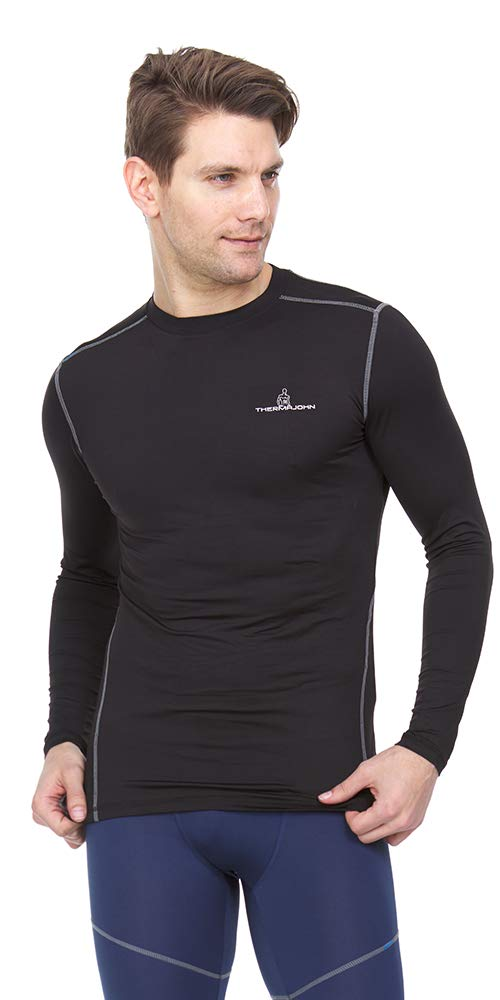 Thermajohn Men Long Sleeve Baselayer Cool Dry Compression T-Shirt for Athletic Workout and Running