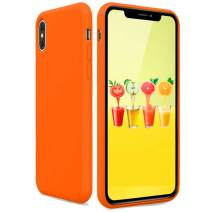 Silicone Case for iPhone Xs iPhone X iPhone Xs Max, Candy Color Soft and Thin Silicone Protective Phone Case Compatible with iPhone Xs/Xs Max/X 2019 (Orange Yellow, iPhone Xs Max)