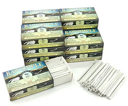 Rawsimple Grade A Fine White Slate 50 Pencils (Dozen case of 600 pencils)
