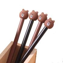 WIN-MARKET Fashion Cute Cartoon Brown Bear Gel Pen Creative Cartoon Ball Pens Office School Supply Stationery (10PCS)
