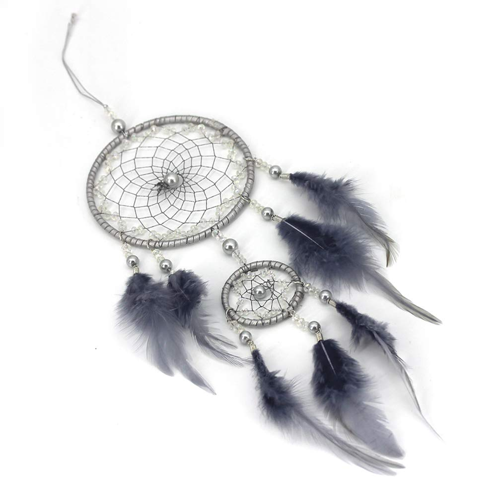 Xinhuaya Crystal Love Dream Catcher Ornaments with Light Home Garden Crafts Hanging Decorations Mini Battery Supply