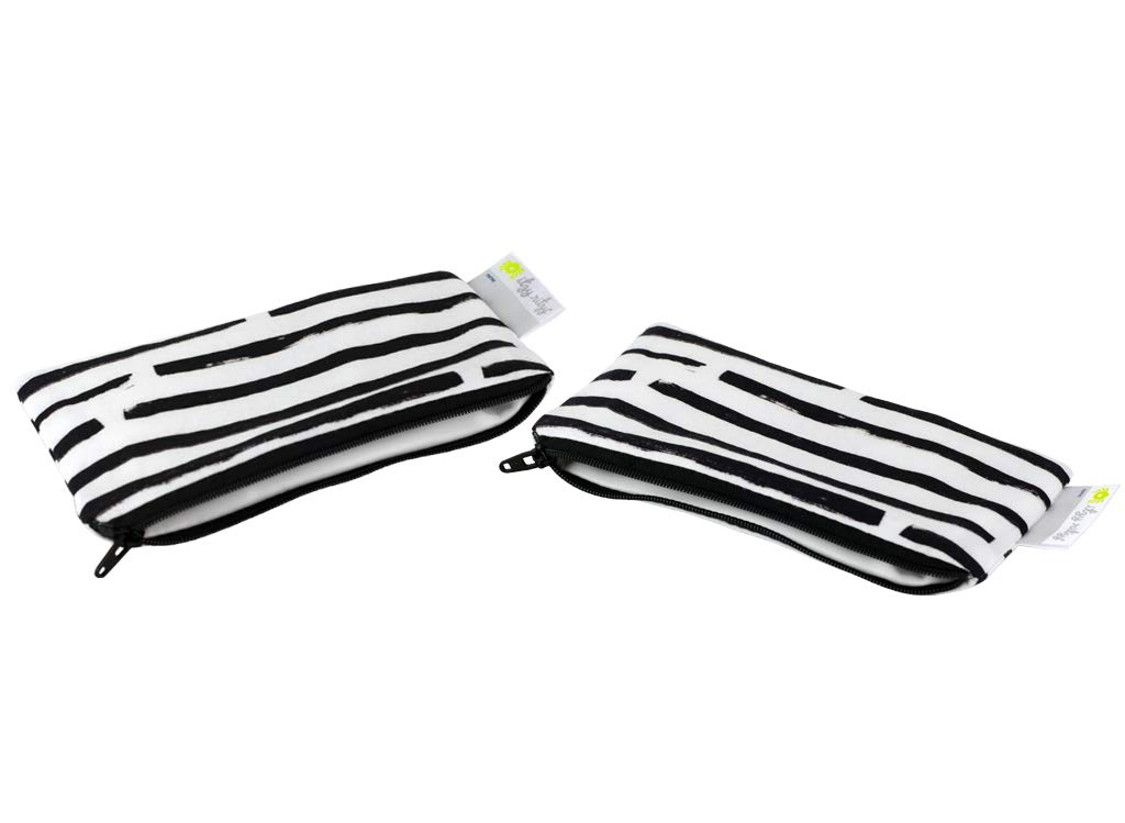 """Itzy Ritzy Reusable Mini Snack Bags – 2-Pack of 3.5"""" x 7"""" BPA-Free Snack Bags are Food Safe & Washable for Storing Snacks, Pacifiers and Makeup in a Diaper Bag, Purse or Travel Bag, Dot Dot Dash"""