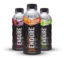 Endure Endurance Sports Drink, Variety Pack, 16 oz Bottles, 12 Count; Essential Electrolytes, Low Glycemic, Slow-Release Carbs
