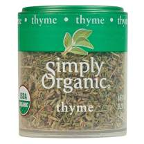 Simply Organic Whole Thyme Leaf, Certified Organic | 0.28 oz | Pack of 6 | Thymus vulgaris L.