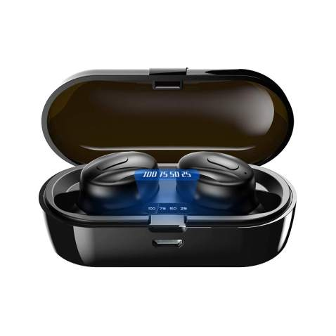 Bluetooth Headphones,XIQWA True Wireless Earbuds Bluetooth with Charging Case,Binaural Call in-Ear Buds,15H Playtime, with Built in Mic Headset,Ipx5 Waterproof Deep Bass for Sport