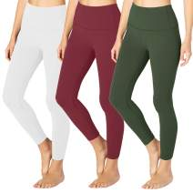 Gayhay High Waisted Leggings for Women - Opaque Slim Tummy Control Pants for Yoga Workout Cycling Running