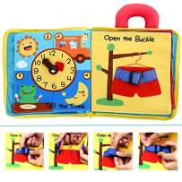 Quiet Book 9 Themes - Ultra Soft Baby Books Touch and Feel Cloth Book, 3D Books Fabric Activity for Babies /Toddlers, Learning to Sensory Book、Identify Skill Boys and Girls, Busy Book