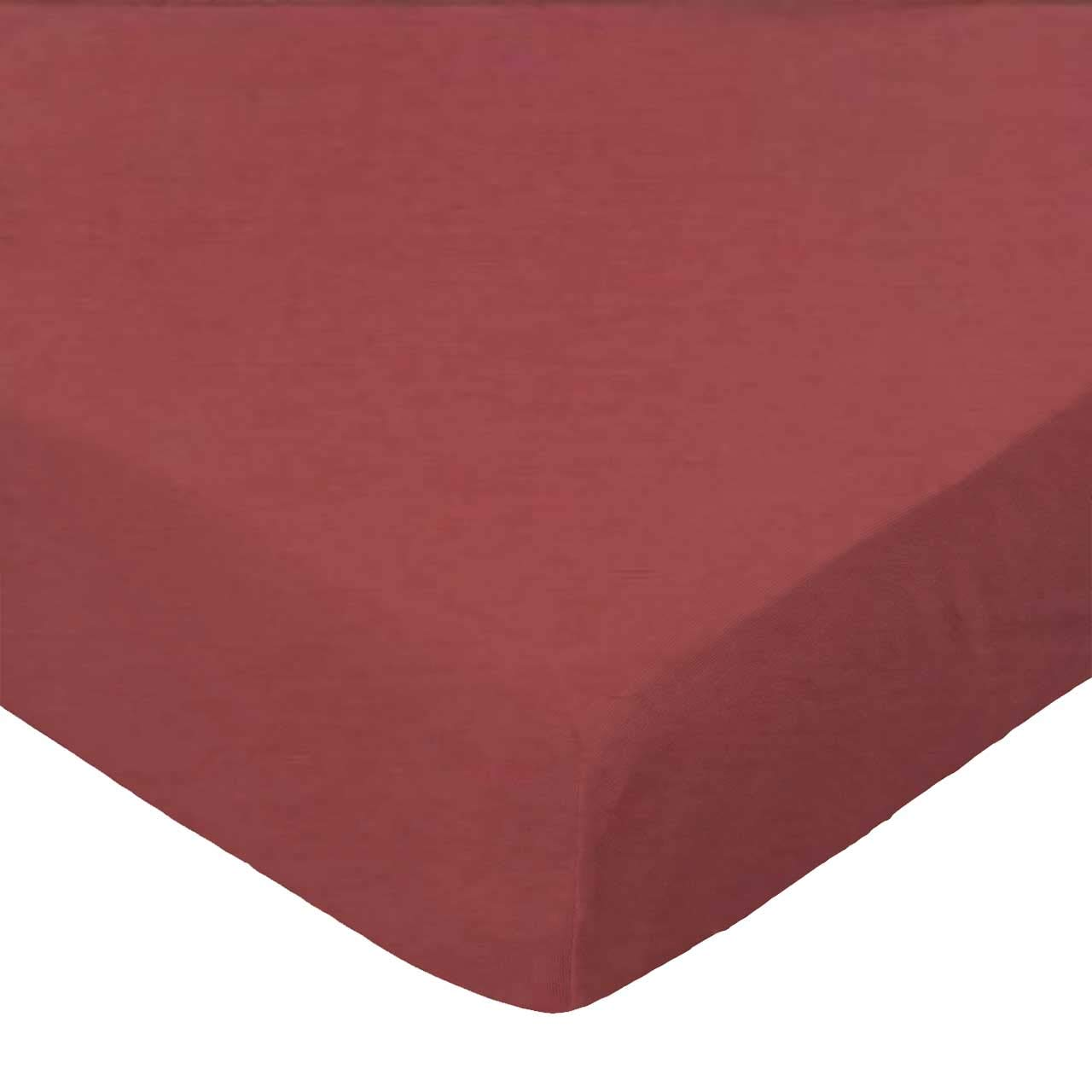 SheetWorld Fitted Cradle Sheet - Solid Burgundy Woven - Made In USA