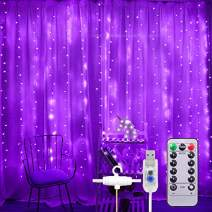 306 LED Curtain Lights 9.8 x 9.8 ft Fairy String Lights USB Powered with Remote for Halloween Christmas Wedding Backdrop Patio Party Garden, 8 Modes, Indoor Outdoor Decorative Window Twinkle Lights
