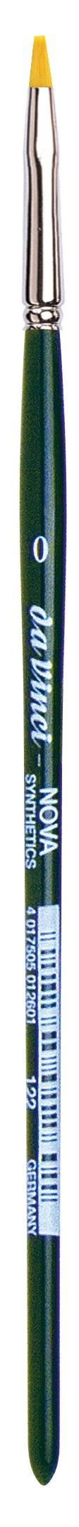 da Vinci Nova Series 122 Hobby Paint Brush, Hobby Flat Synthetic, Size 0 (122-0)