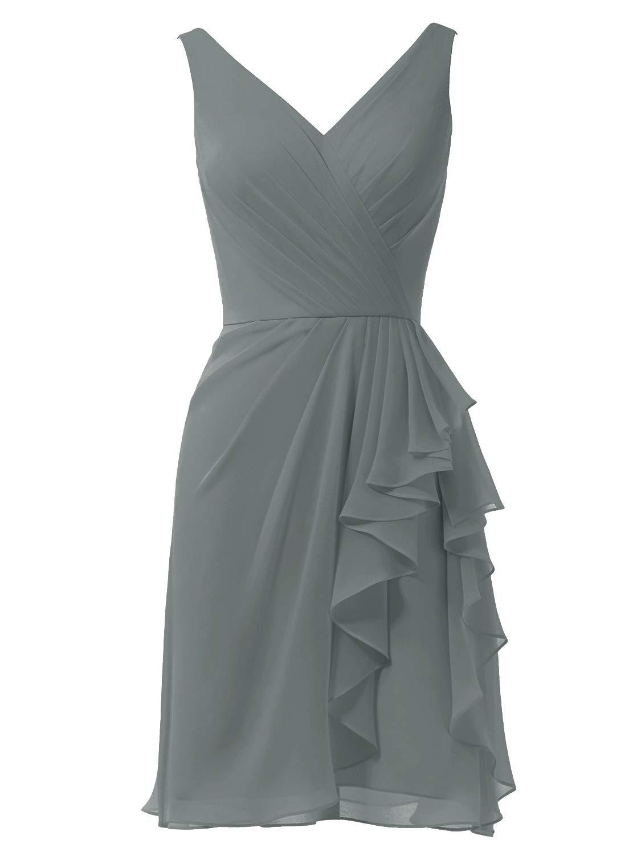 Alicepub Chiffon Bridesmaid Dress Short A-Line Cocktail Dress Party Homecoming Dresses