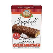 Sunbelt Bakery Fudge Dipped Coconut Chewy Granola Bars, 15 Count per box, 15.32 Oz