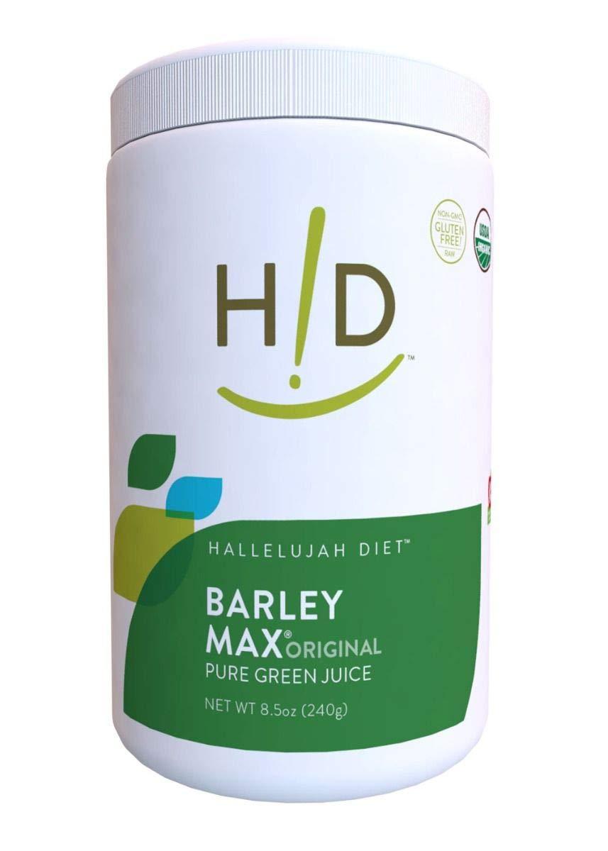 Hallelujah Diet Organic Barleymax Barley And Alfalfa Grass Juice Powder Original 8 5oz 120 Servings