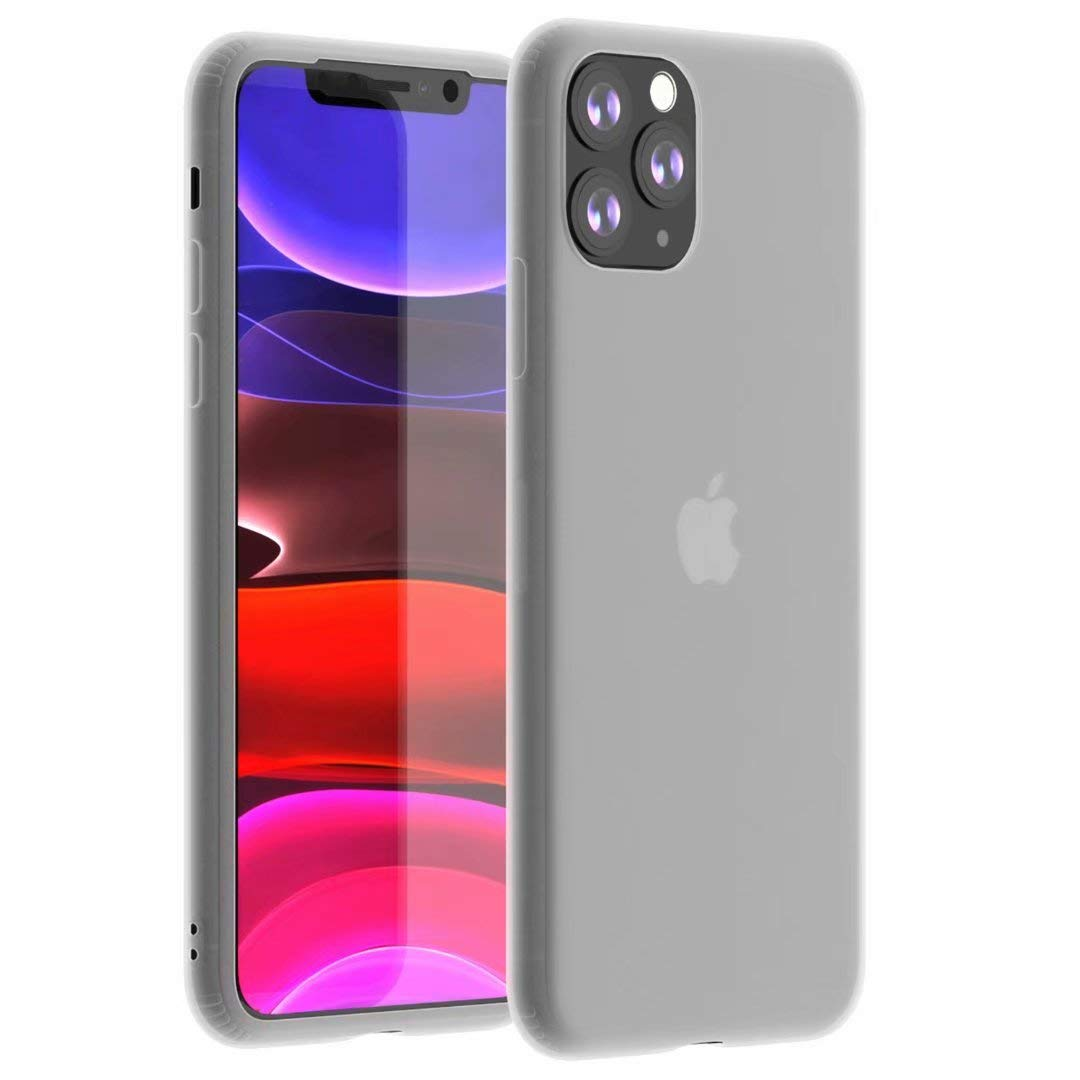 Tzomsze iPhone 11 Pro Max Case, Liquid Latex Silicone Gel Rubber Case,Slim Ultra-Soft Translucent Matte Shock Absorbing Protective Case Cover -White