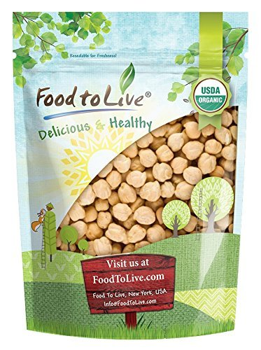 Organic Garbanzo Beans / Dried Chickpeas by by Food to Live (Non-GMO, Kosher, Raw, Sproutable, Bulk) — 1 Pound