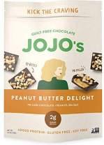 JOJO's Guilt-Free Peanut Butter Delight Chocolate Bites I 2g Sugar Per Bite I Peanut Butter, Peanuts, Sea Salt, and Plant Based Protein - 3.9oz Bag(4 count) I Low Carb I KETO Paleo & Vegan Friendly