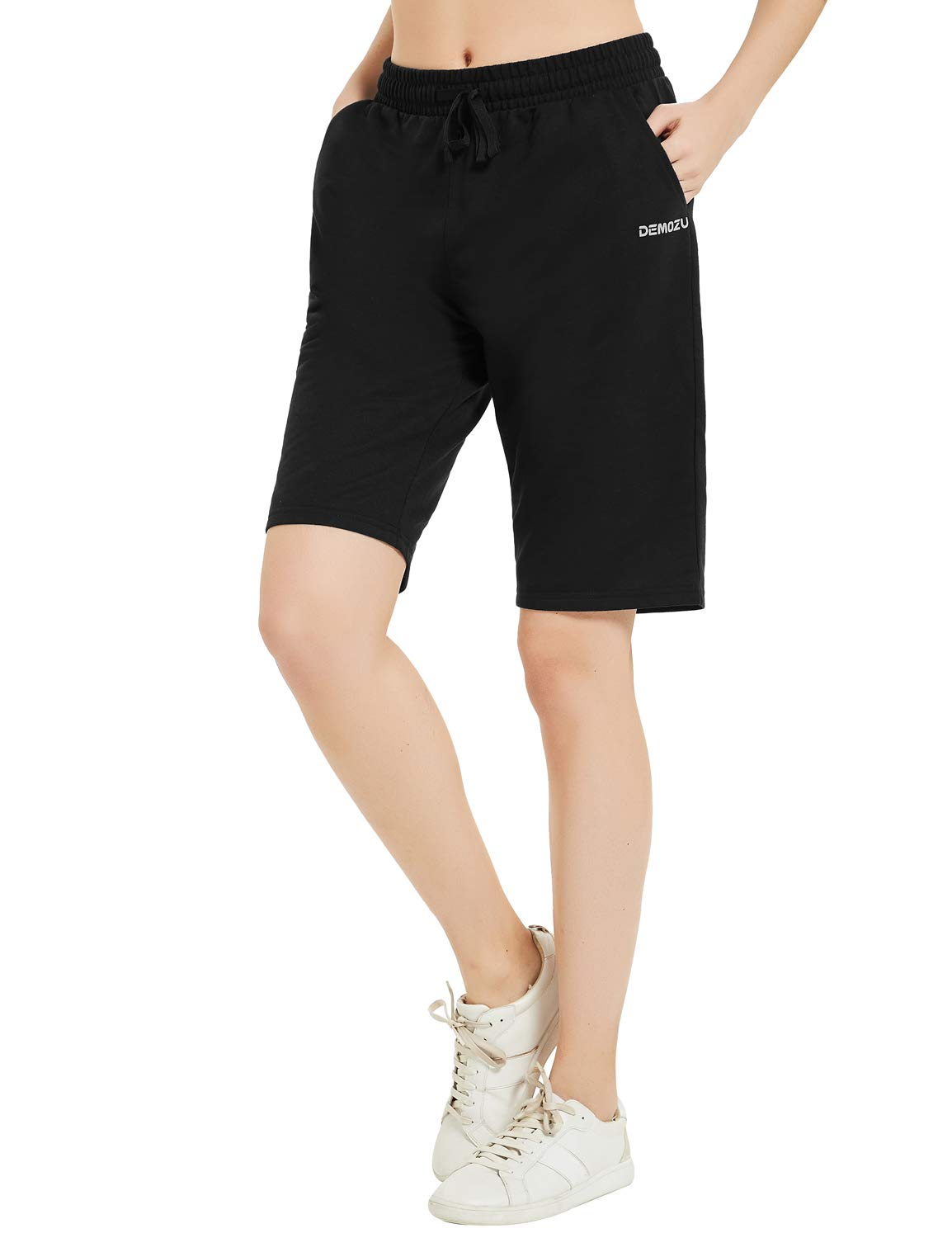 "DEMOZU Women's 5"" / 10"" Active Lounge Bermuda Shorts Knit Shorts with Pockets"