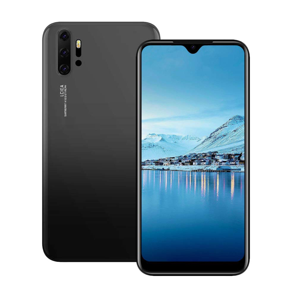 Unlocked Cell Phones, p30Apro 3G (WCDMA:850/2100) Android Smartphone, 6.26inch IPS Full-Screen, 3G Dual SIM,2GB RAM 16GB ROM, Android 7.0 MTK6580 Quad Core,3800mAh(Apply to T-Mobile) Black