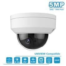 Anpviz 5MP IP POE Dome Camera Outdoor Wide Angle 2.8mm Lens,98ft Smart IR,IP66 Waterproof IP Security Camera Indoor, ONVIF Support HIK, Motion Detection Video Surveillance Camera