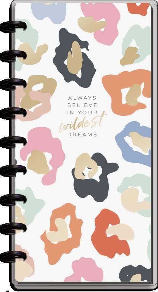 "The Happy Planner Skinny Classic Sized 12 Month Planner - Scolorful Leopard Theme - July 2021 - June 2022 - Hortizontal Layout - Monhtly & Weekly Dsic Bound Pages - 9.8"" x 8.37"""