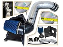 Cold Air Intake System with Heat Shield Kit + Filter Combo BLUE Compatible For 04-05 GMC Sierra/Chevy Silverado 2500HD/3500 V8 6.6L Duramax