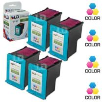 LD Remanufactured Ink Cartridge Replacement for HP 93 C9361WN (Color, 4-Pack)