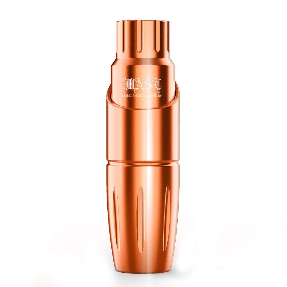 Mast Tour Rotary Tattoo Pen Machine Cartridges Gun 3.5 Inches Length Custom Mast Coreless Motor 25mm Sleeve Grip (Orange)