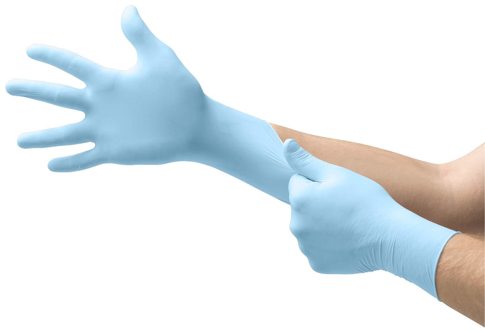MICRO-TOUCH DENTA-GLOVE Blue Nitrile Gloves - Disposable, Powder Free, Exam Grade, Size XSmall (pack of 100)