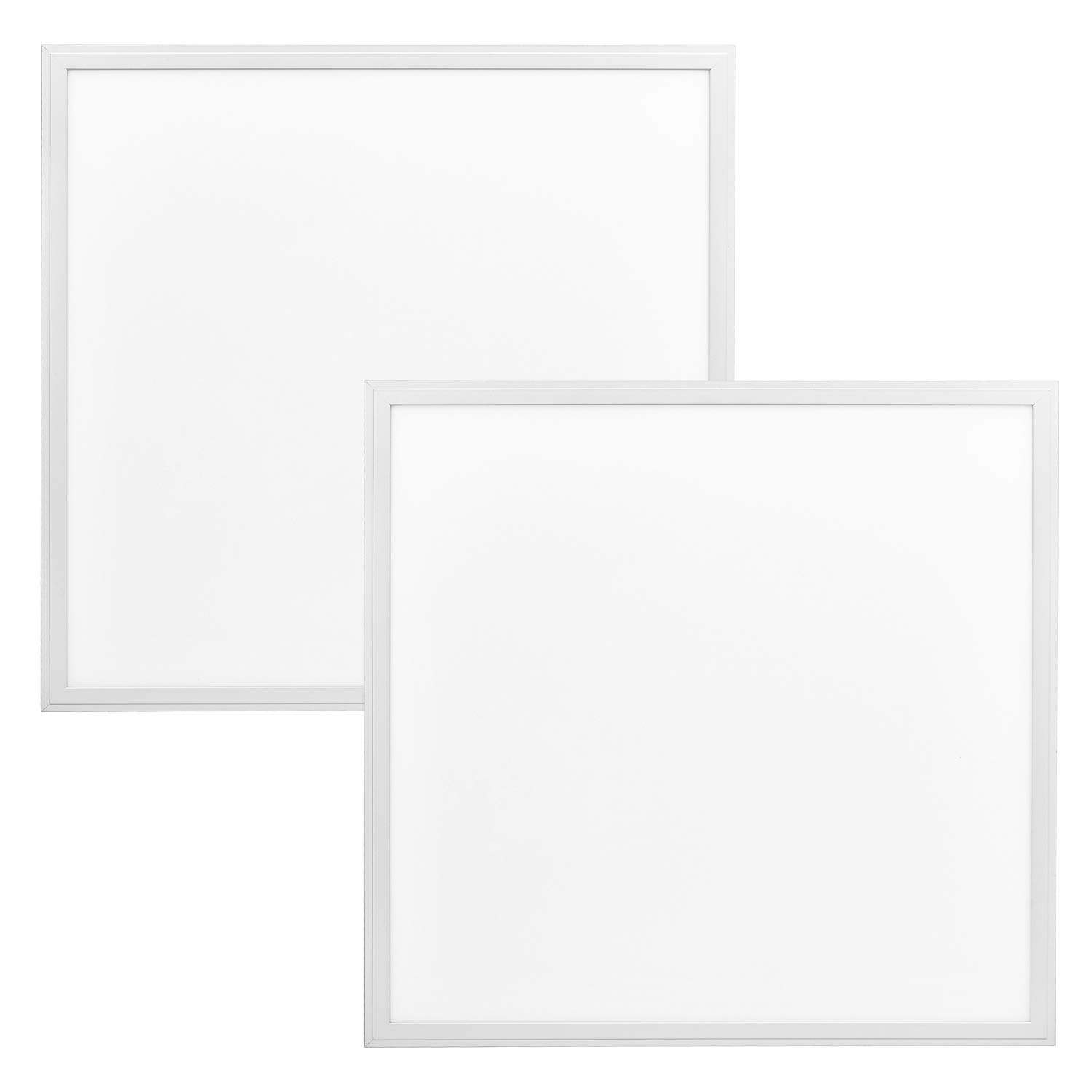 Luxrite LED Light Panel, 2x2 FT, 40W, 5000K Bright White, 4300 Lumens, 24x24 Inch LED Flat Panel, 0-10V Dimmable, DLC Listed, UL Listed, Pack of 2