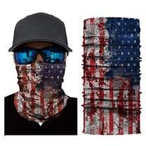 Venhoo American Flag Face Mask for Men Women Unisex Neck Gaiter Headwear Magic Scarf Bandana Headband for Motorcycle Cycling Fishing Skiing