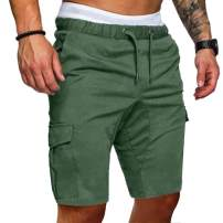 Men's Casual Classic Drawstring Shorts - Outdoor Sports Shorts with Elastic Waist and Pockets -6 Color