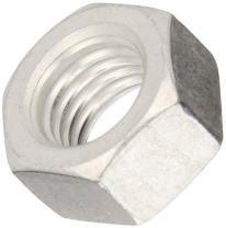 "Aluminum Machine Screw Hex Nut, Plain Finish, ASME B18.6.3, #4-40 Thread Size, 3/32"" Width Across Flats, 1/4"" Thick (Pack of 100)"