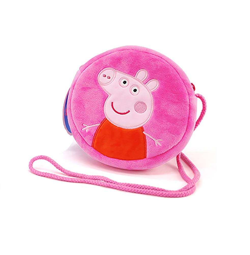 EIIORPO Cartoon Peppa Pig Purse Soft and Lovely Crossbody Bags for Girl and Boys Holiday Gift, Key Bag and Mobile Phone Bag Shoulder Bag, Peppa Pig Accessories. (Peppa) …