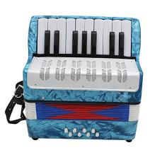 Accordion,Mini Accordion,Small 17-Key 8 Bass Educational Musical Instrument Toy for Kids Children Amateur Beginner Christmas Gift (Blue)