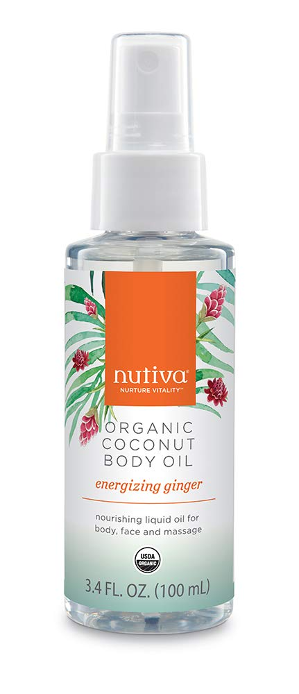 Nutiva Organic Coconut Body Oil Ginger, 3.4-ounce