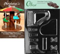 Cybrtrayd Piano Chocolate Candy Mold with Chocolatier's Guide Instructions Book Manual