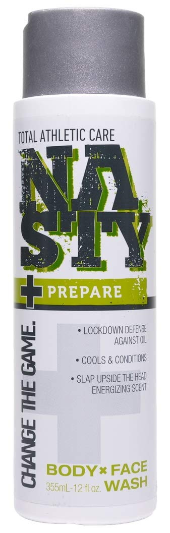 NASTY Prepare Body and Face Wash with Moisturizing Jojoba & Peppermint, 12 Ounce