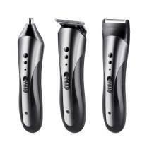 Padgene Mens Hair Clipper Electric Rechargable Quiet Detail Trimmer Professional Cordless Haircut Head Shaver Grooming Kit for Heads, Beards & all Body Grooming (3 in 1 Grooming Kit)