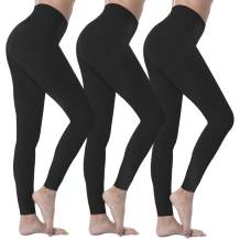 Natural Feelings High Waisted Leggings for Women Ultra Soft Stretch Opaque Slim Yoga Leggings One Size & Plus Size